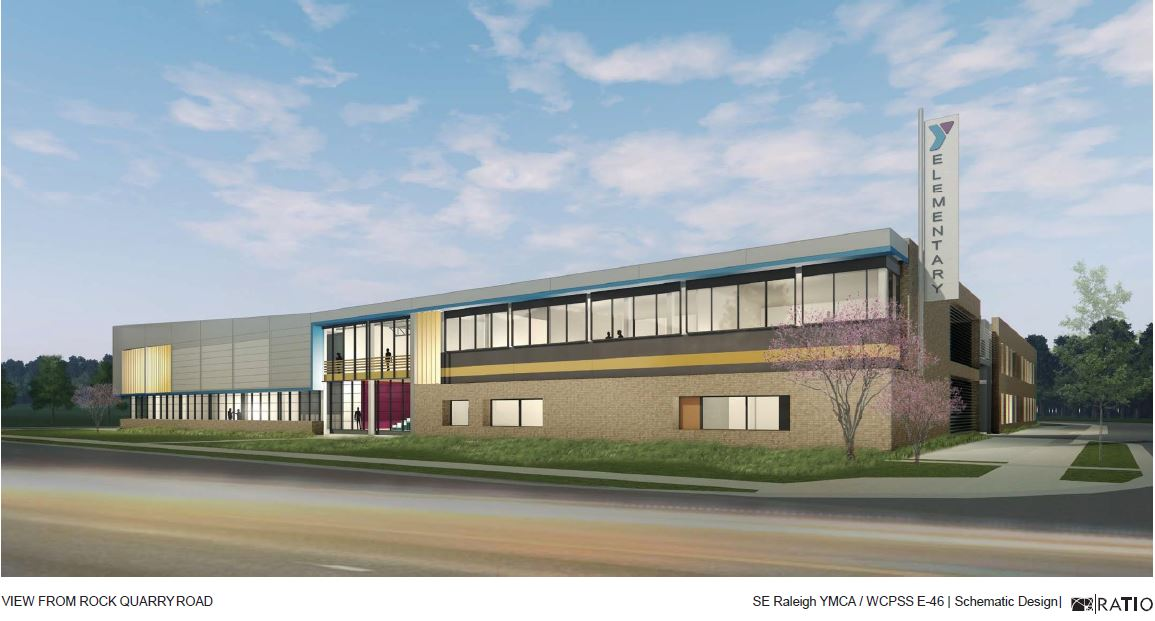 SE Raleigh - Front Elevation Rendering